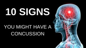 10 signs you might have a concussion